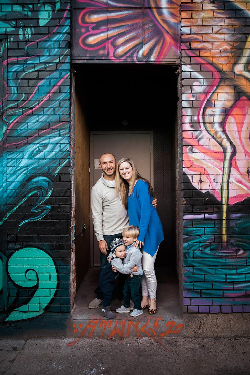 denver rino family portrait photographer infant graffiti